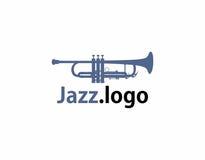 Logo de jazz de trompette Image libre de droits