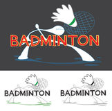 Logo de jeu de sport de badminton Photos stock