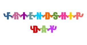 Logo de jour d'amitié Signe international de vacances Photographie stock