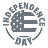 Logo de Jour de la Déclaration d'Indépendance, style simple Image stock