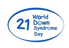 Logo de jour de syndrome de Down du monde dans la conception de vecteur illustration libre de droits