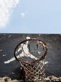 Logo de Jumpman par Nike sur le vieux panneau arrière de basket-ball Image stock