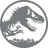 Logo de Jurassic Park illustration de vecteur