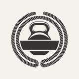 Logo de Kettlebell Photo stock