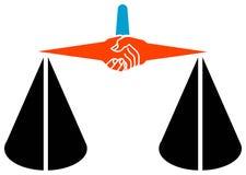 Logo de légalité Photo stock