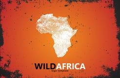 logo de l'Afrique Conception sauvage affiche Photo libre de droits