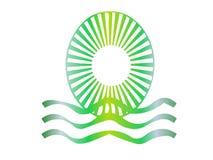 Logo de l'eau de Sun Photographie stock libre de droits