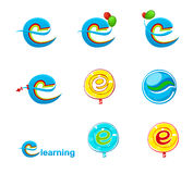 Logo de l'explorateur logo/E-learning illustration stock