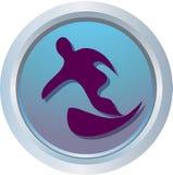 Logo de l'hiver - snowboard Image libre de droits