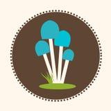 Logo de l'illustration ENV 10 de Honey Agaric Mushrooms Flat Design de vecteur Photographie stock libre de droits