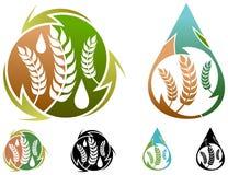 Logo de l'industrie alimentaire Images stock