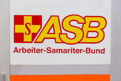 Logo de l'organisation humanitaire allemande ASB Photographie stock