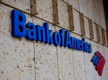 Logo de la Banque d'Amérique du côté d'un bâtiment photo stock