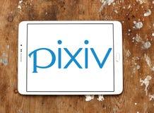 Logo de la communauté en ligne de Pixiv image stock