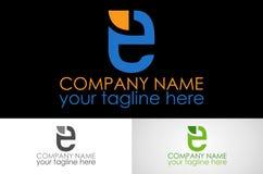 Logo de la lettre E photo stock