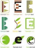 Logo de la lettre E Images libres de droits