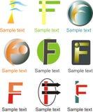 Logo de la lettre F Photographie stock libre de droits