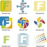 Logo de la lettre F Photo libre de droits