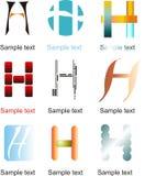 Logo de la lettre H Photos stock