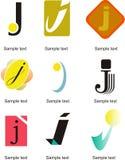 Logo de la lettre J Photo stock