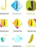 Logo de la lettre J Photos stock