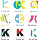 Logo de la lettre K Photographie stock libre de droits