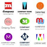 Logo de la lettre M illustration stock