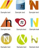 Logo de la lettre N Photos libres de droits