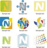 Logo de la lettre N Photographie stock