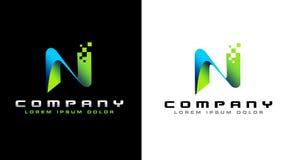 Logo de la lettre N illustration de vecteur