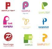 Logo de la lettre P Photographie stock