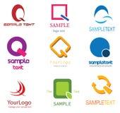 Logo de la lettre Q Photos stock