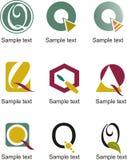 Logo de la lettre Q Image stock