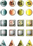 Logo de la lettre S Photos stock