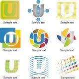 Logo de la lettre U Photo libre de droits