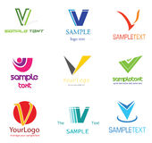 Logo de la lettre V Photographie stock libre de droits