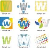 Logo de la lettre W Images stock