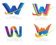 Logo de la lettre W Photos stock