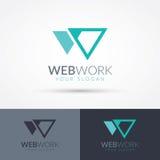 Logo de la lettre W illustration stock