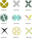 Logo de la lettre X Photos stock