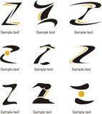 Logo de la lettre Z Image stock