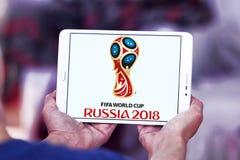 Logo 2018 de la Russie de coupe du monde de la FIFA Photographie stock