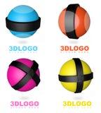 logo de la sphère 3D illustration stock