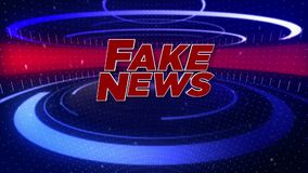 Logo de la télévision animée Fake News illustration stock