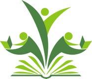 Logo de lecteur de livre Images stock