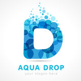 Logo de lettre de la baisse D d'Aqua Image libre de droits