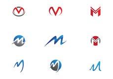 Logo de lettre de M Photo stock