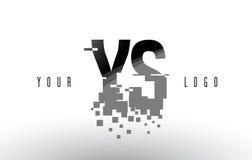 Logo de lettre de pixel de YS Y S avec les places noires brisées par Digital Photographie stock libre de droits