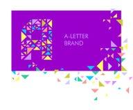 Logo A de lettre de triangle illustration de vecteur