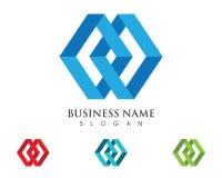 Logo de lettre de M Image stock